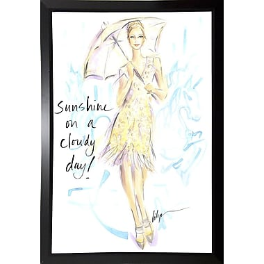 East Urban Home 'Sunshine on a Cloudy Day' Print; Rolled Canvas