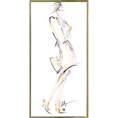 East Urban Home 'Purse Your Hips' Print; Gold Metal Framed Paper
