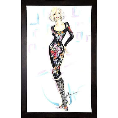 East Urban Home 'Marilyn Never Boring' Print; Cafe Espresso Wood Framed Paper