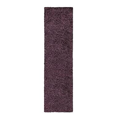 Winston Porter Blaisdell Shag Hand Woven Purple Area Rug; Runner 2'7'' x 8'
