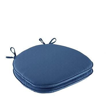 Winston Porter Solid 3M Scotchgard Indoor/Outdoor Dining Chair Cushion (Set of 2); Navy
