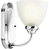 Winston Porter Blassingame 1-Light Bath Sconce; Polished Chrome
