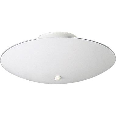 Winston Porter Boneta 60w Round White Glass Semi Flush Mount; 7''H X 14.5'' diameter