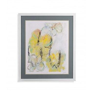 Latitude Run 'Yellow Floral Abstract II' Framed Print