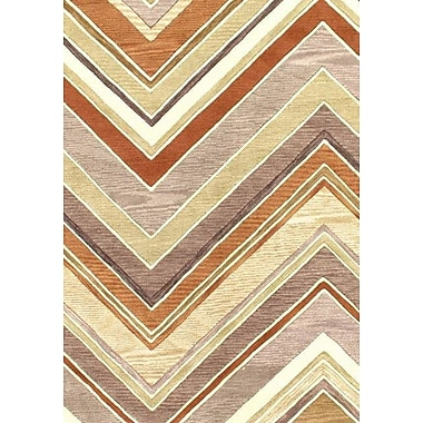 Pasargad NY Modern Hand-Tufted Wool Beige/Rust Area Rug