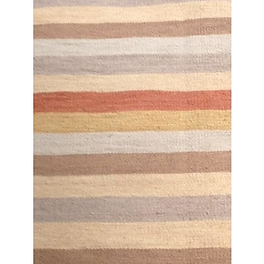 Pasargad NY Flat Weave Hand-Knotted Wool Brown/Beige Area Rug