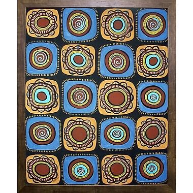 Winston Porter '20 Blooms' Print; Cafe Mocha Framed Paper