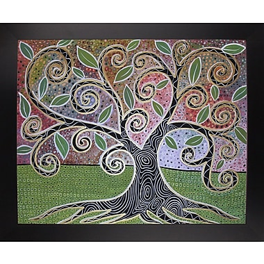 Winston Porter 'Notable Tree 1' Print; Black Wood Large Framed Paper