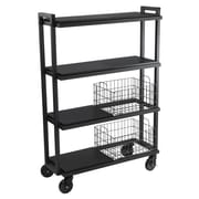 Atlantic Transformable 4 Tier Mobile Utility Cart; Black