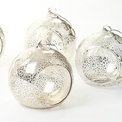 Alcott Hill Terrarium 6 Piece Glass Tealight Holder Set (Set of 6); Antique Silver WYF078282208342