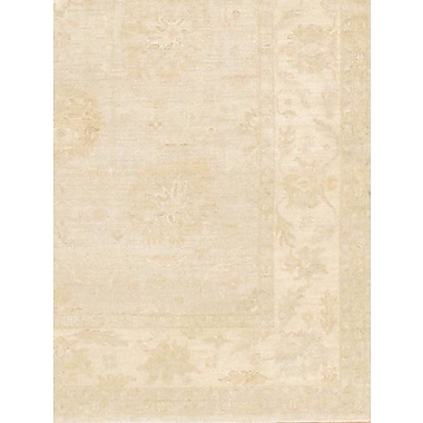 Pasargad NY Farahan Hand-Knotted Wool Beige Area Rug