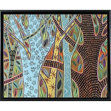 Winston Porter 'Abstract Trees 1' Print; Black Metal Framed Paper