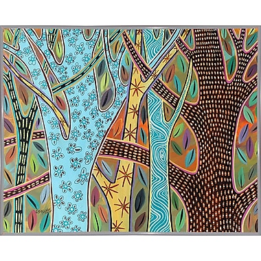 Winston Porter 'Abstract Trees 1' Print; White Metal Framed Paper