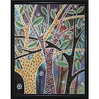 Winston Porter 'Nifty Trees 1' Print; Black Metal Flat Framed Paper