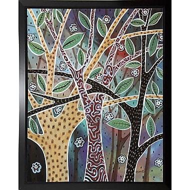 Winston Porter 'Nifty Trees 1' Print; Black Plastic Framed Paper