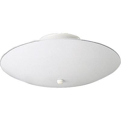 Winston Porter Boneta 60w Round White Glass Semi Flush Mount; 5.5''H X 12'' diameter