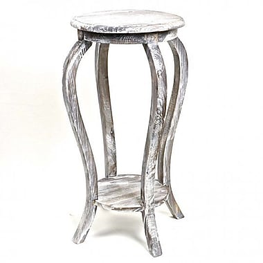 August Grove Glenfield Wooden Plant Stand; Gray