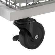 Atlantic Transformable 2 Tier Mobile Utility Cart; White/Gray