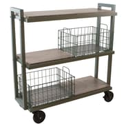 Atlantic Transformable 3 Tier Mobile Utility Cart; Gray/Brown