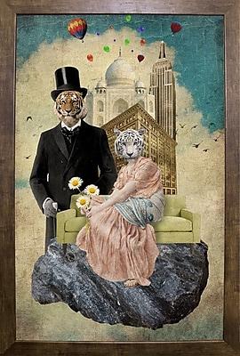 East Urban Home 'The Eyes of The Tiger' Framed Graphic Art Print; Cafe Mocha Framed Paper
