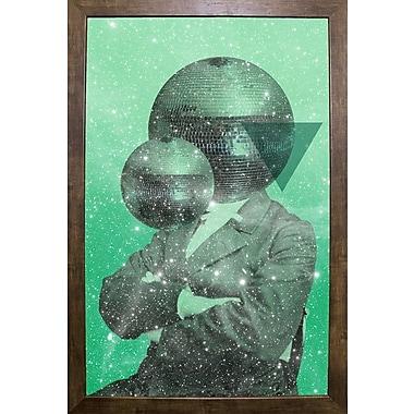 East Urban Home 'Green Universe' Framed Graphic Art Print; Cafe Mocha Framed Paper