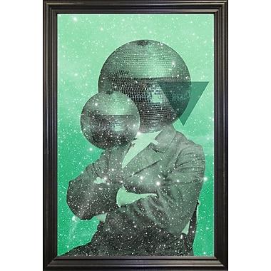 East Urban Home 'Green Universe' Framed Graphic Art Print; Black Wood Grande Framed Paper