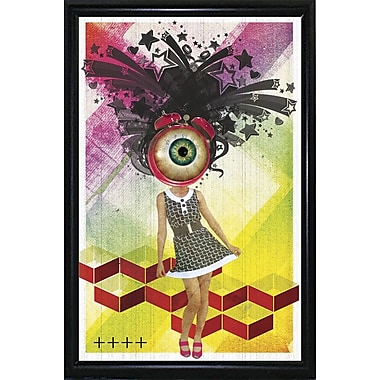 East Urban Home 'Do You Watch Your Time' Framed Graphic Art Print; Black Metal Flat Framed Paper