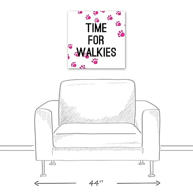 East Urban Home 'Time For Walkies' Textual Art on Canvas; 20'' H x 20'' W