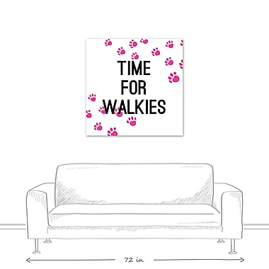 East Urban Home 'Time For Walkies' Textual Art on Canvas; 36'' H x 36'' W