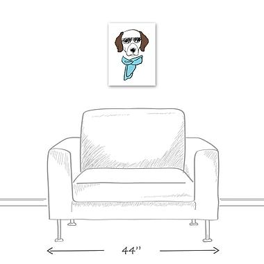 East Urban Home 'Dog w/ Sunglasses' Graphic Art Print on Canvas; 16'' H x 12'' W