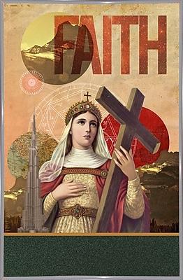 East Urban Home 'Rise of Mary' Framed Graphic Art Print; White Metal Framed Paper
