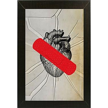 East Urban Home 'First Aid' Framed Graphic Art Print; Brazilian Walnut Wood Medium Framed Paper
