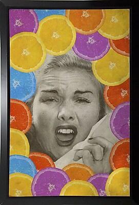 East Urban Home 'Citrus Muss' Framed Graphic Art Print; Black Plastic Framed Paper