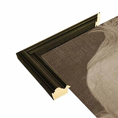 East Urban Home 'Baby Hero' Framed Graphic Art Print; Black Wood Grande Framed Paper