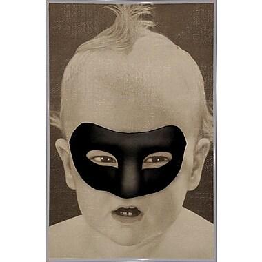 East Urban Home 'Baby Hero' Framed Graphic Art Print; White Metal Framed Paper
