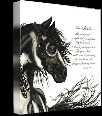Alcott Hill 'Majestic Horse DreamWalker' Graphic Art Print on Wrapped Canvas; 24'' H x 24'' W