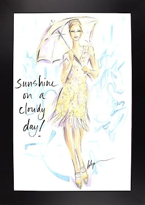 East Urban Home 'Sunshine on a Cloudy Day' Print; Black Wood Large Framed Paper