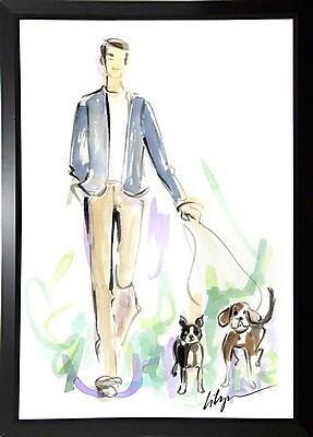 East Urban Home 'Dog Walkin' Print; Paper