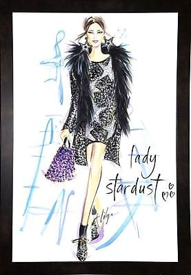 East Urban Home 'Lady Stardust' Print; Black Wood Medium Framed Paper