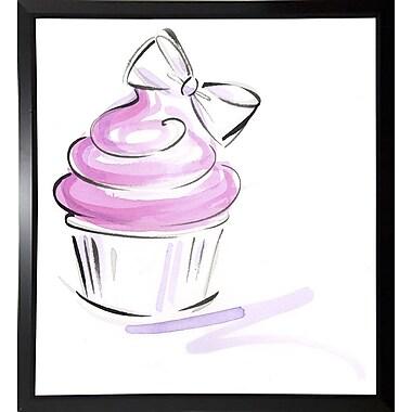 East Urban Home 'Cupcake-2' Print; Black Plastic Framed Paper