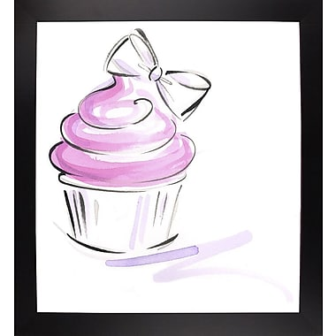 East Urban Home 'Cupcake-2' Print; Black Wood Large Framed Paper
