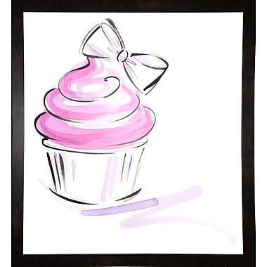 East Urban Home 'Cupcake-2' Print; Black Wood Medium Framed Paper