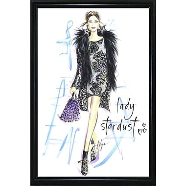 East Urban Home 'Lady Stardust' Print; Black Metal Flat Framed Paper