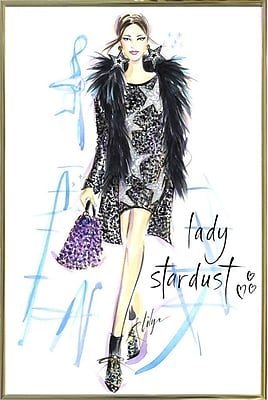 East Urban Home 'Lady Stardust' Print; Gold Metal Framed Paper