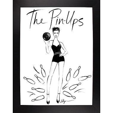 East Urban Home 'The Pin Ups' Print; Black Wood Large Framed Paper