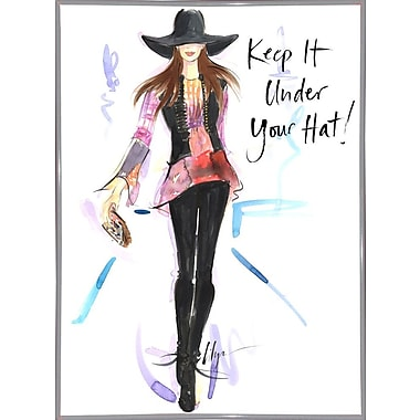 East Urban Home 'Keep it Under Your Hat' Print; White Metal Framed Paper
