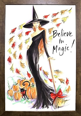 East Urban Home 'Believe in Magic' Print; Cafe Mocha Framed Paper