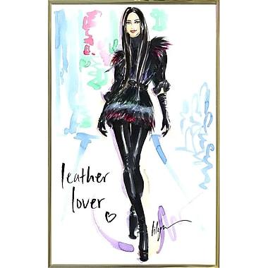 East Urban Home 'Leather Lover' Print; Gold Metal Framed Paper