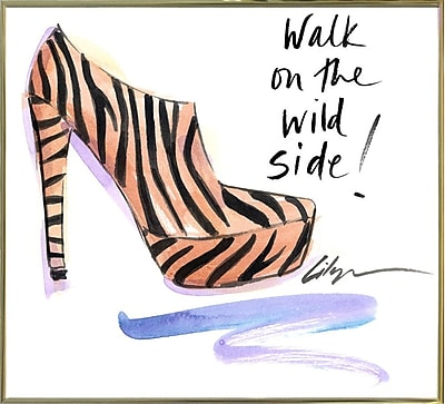 East Urban Home 'Walk on the Wild Side' Print; Gold Metal Framed Paper