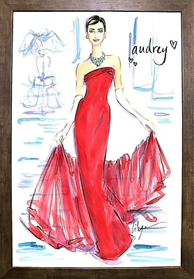 East Urban Home 'Audrey Awesomeness' Print; Cafe Mocha Framed Paper
